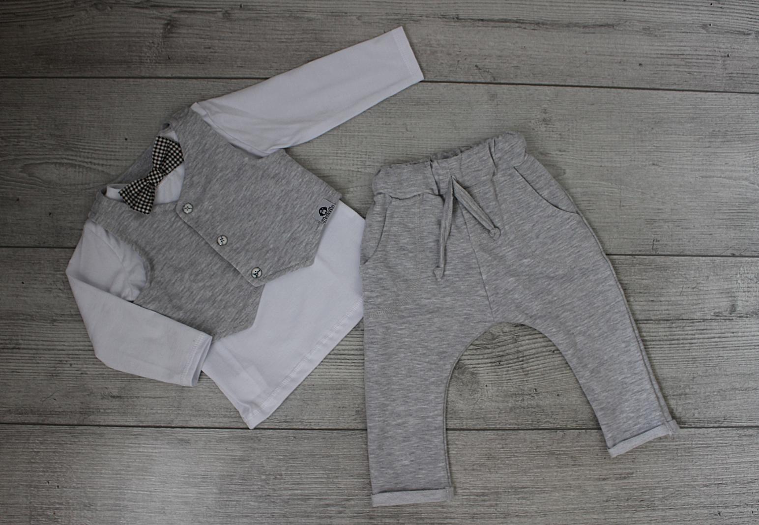 43830cf46fe Elegancka kamizelka + spodnie (szary)